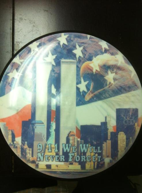 A Dynamic Discs Dyemax in honor of 9/11, courtesy of Wade Racher.