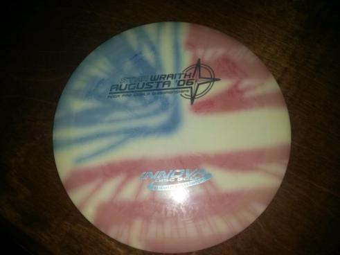 Nothing like getting a flag dye straight from the Innova factory on an Augusta Wraith, courtesy of Jeff Corbin.