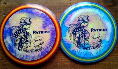 More patriots, this time with the spin-dye treatment by Dan Howard on some Skulboy discs. Photo courtesy of Skulboy himself.